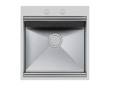 Lavello a una vasca da incasso in acciaio inoxMILANO 462x400 Q4 - FOSTER