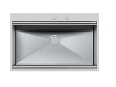 Lavello a una vasca filo top in acciaio inoxMILANO 790X400 FT C/BAN.RUB - FOSTER