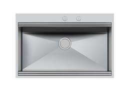 Lavello a una vasca da incasso in acciaio inoxMILANO 790X400 Q4 C/BAN.RUB - FOSTER
