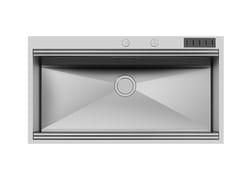 Lavello a una vasca filo top in acciaio inoxMILANO 968x400 FT C/prtcltll - FOSTER