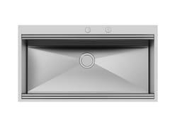 Lavello a una vasca da incasso in acciaio inoxMILANO 968x400 Q4 C/BANC.RUB - FOSTER