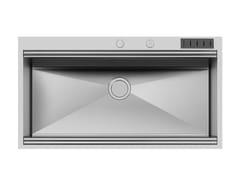 Lavello a una vasca da incasso in acciaio inoxMILANO 968x400 Q4 C/prtcltll - FOSTER