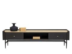 Mobile TV basso in legno impiallacciato con cassettiMILANO | Mobile TV - KARE DESIGN
