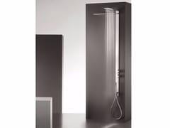 Colonna doccia a parete termostatica in acciaio inox con soffione MILANOSLIM WATERFALL - MilanoSlim