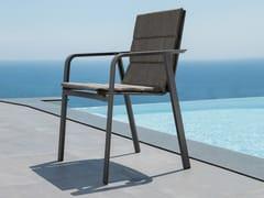 Sedia da giardino impilabile con cuscino integratoMILO | Sedia da giardino - TALENTI