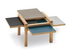 Tavolino basso in legno massello MINI PAR4 - Par