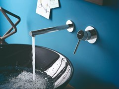 Miscelatore per lavabo a muro monocomando MINI-X | Miscelatore per lavabo a muro - MINI-X