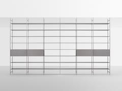 Scaffale a giorno divisoria in alluminio in stile moderno con fissaggio pavimento-soffittoMINIMA 3.0 ROOM DIVIDER - MDF ITALIA