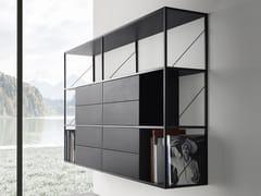 Libreria a giorno sospesa in alluminioMINIMA 3.0 HANGING - MDF ITALIA