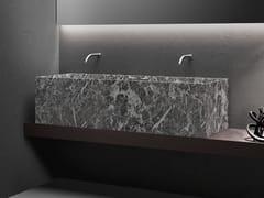 Lavabo doppio sospeso in marmo Jolie GreyMINIMUM | Lavabo doppio - FALPER