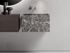 Lavabo singolo sospeso in marmo Jolie GreyMINIMUM | Lavabo rettangolare - FALPER