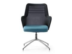 Sedia ufficio operativa ad altezza regolabile girevole in tessuto con braccioli MISS MESH | Sedia ufficio operativa a 4 razze - Miss Mesh