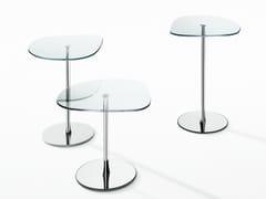 Tavolino da caffè in acciaio e cristallo MIXIT GLASS -