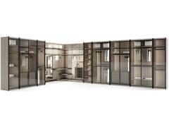 Cabina armadio angolare componibile in frassino con illuminazione integrataMIYABI - GIORGETTI