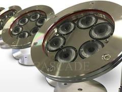 Lampada ad immersione a LED in acciaio inox per fontaneFari LED Mizar - CASCADE
