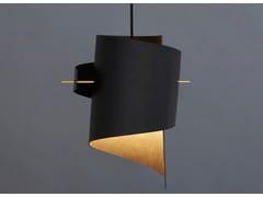 Lampada a sospensione a LED fatta a mano in pelle ML01 LARGE LEATHER BLACK -