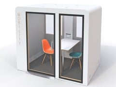 CABINA ACUSTICA  MULTIMEDIALE PER ACCESSO DISABILIMOBILITY PROCYON - SBS SILENCE BUSINESS SOLUTIONS