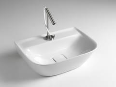 Lavabo rettangolare singolo in ceramica BACK SOUL 650 - Lavabi