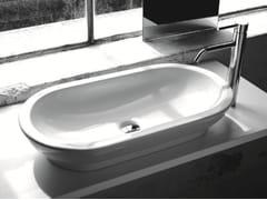 Lavabo da appoggio ovale in ceramicaBP031 | Lavabo - BLEU PROVENCE