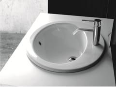 Lavabo da incasso soprapiano ovale in ceramicaBP013-BP014 | Lavabo - BLEU PROVENCE