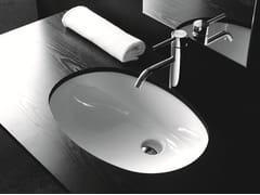 Lavabo da incasso sottopiano ovale in ceramicaBP020 | Lavabo - BLEU PROVENCE
