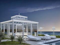La Casa dei Limoni, MODERNO Giardino d'inverno in alluminio e vetro