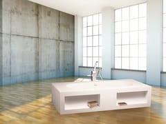 Vasca da bagno rettangolare in Cristalplant® MODUL'Ô BIBLIO -