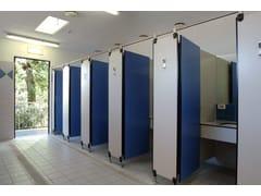 Parete divisoria per bagni in HPLPARETE MODULARE AG/S - GES GROUP