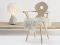 Sedia in legno massello con braccioli MONACO -