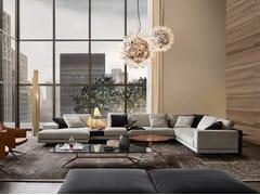 Divano angolare imbottito in tessuto con chaise longue MONDRIAN | Divano angolare - Mondrian