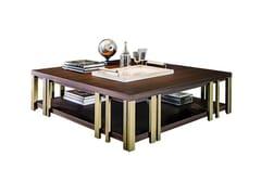 Tavolino basso quadrato con portarivisteMONDRIAN | Tavolino quadrato - CASAMILANO