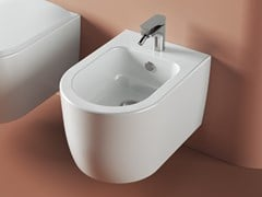 Bidet sospeso in ceramica con troppopienoMONET | Bidet - ARTCERAM