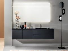 Mobile lavabo singolo sospeso con lavabo integratoMONOLITE - ARTELINEA