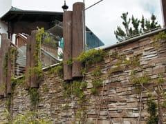 Rivestimento di facciata in pietra artificiale MONTEPANEL P12 - Profilo PANNELLO
