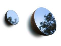 Specchio rotondo in sughero con cornice da pareteMOON - SOFALCA