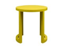 Tavolino di servizio laccato in MDF per contract MOON   Tavolino laccato - Moon
