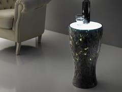 Tavolino / comodino in Crystal Stone®MOONLIGHT - BALLARINI