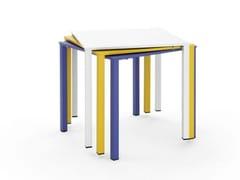 Tavolino da giardino quadrato in metallo per contractMOONTABLE | Tavolino - URBANTIME