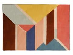Tappeto fatto a mano rettangolare a motivi geometriciMORNING DREAM - I + I