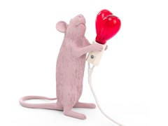 Lampada da tavolo a LED in resinaMOUSE LAMP LOVE EDITION - SELETTI
