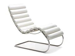 Chaise longue imbottita in pelleMR LOUNGE   Chaise longue - KNOLL INTERNATIONAL