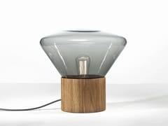 Lampada da tavolo a LED in legno e vetroMUFFINS   Lampada da tavolo - BROKIS