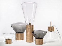 Lampada da tavolo / lampada da terra in legno e vetroMUFFINS | Lampada da tavolo - BROKIS