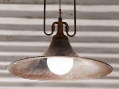 Lampada a sospensione a luce diretta e indiretta in ottoneMULINO - ALDO BERNARDI