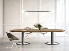 Tavolo da riunione in legno MULTIPLICEO | Tavolo da riunione ovale - MultipliCeo