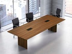 Tavolo da riunione in legno MULTIPLICEO | Tavolo da riunione rettangolare - MultipliCeo
