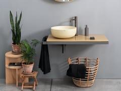 Piano lavabo in ceramicaMULTIPLO - CERAMICA CIELO
