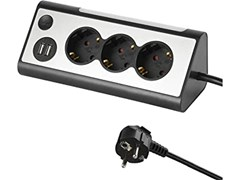 Multipresa con luce e interruttore capacitivoMULTIPRESA AD ANGOLO - ELECTRALINE