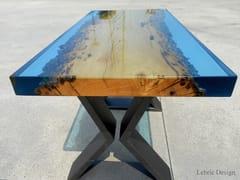 Tavolino in legno di briccola e resinaMURANO - ANTICO TRENTINO DI LUCIO SEPPI