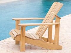Poltrona da giardino in legno massello con braccioliMUSKOKA - SCULPTURE GÉNÉRALE